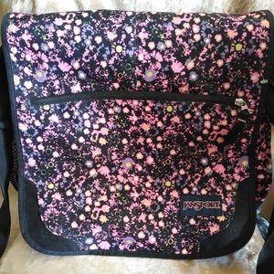 Jansport Elefunk Pink Floral Laptop Backpack Bag
